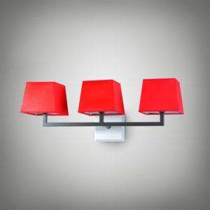 Nástěnné světlo Bra Atlanta 3xE14 červené
