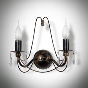 Nástěnné světlo Bra Isabella crystal 2xE14