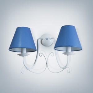 Nástěnné světlo Bra Lillian 2xE14 modré