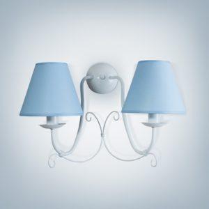 Nástěnné světlo Bra Lillian 2xE14 světle modré